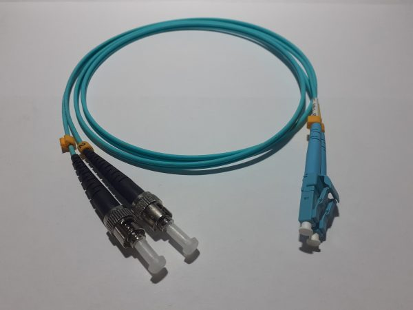 Patch cord Dx MM OM3 2mm LC/PC-ST/PC 2mt